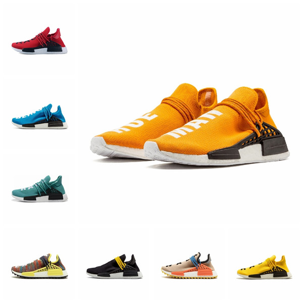 2019 Human Race NMD Laufschuhe Pharrell Williams Hu trail Oreo Nobel ink Schwarz Nerd Designer Sneakers Herren Damen Sportschuhe