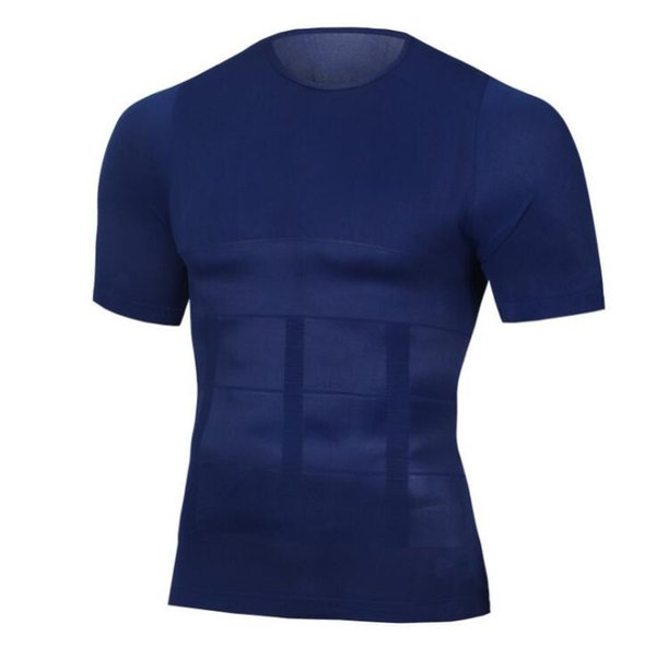das schnelle trockene Formerkorsett der Männer des kurzen Ärmels shapewear Mann, das T-Shirt die Unterleibsscheiße A605 abnimmt