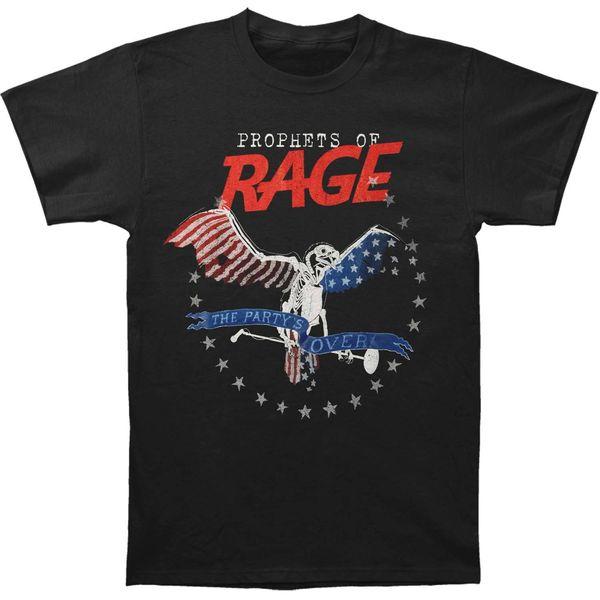 Profetas do partido dos homens da raiva sobre - logotipo da fonte Slim Fit T-shirt X-grande preto de alta qualidade personalizado impresso manga curta Tops Tee