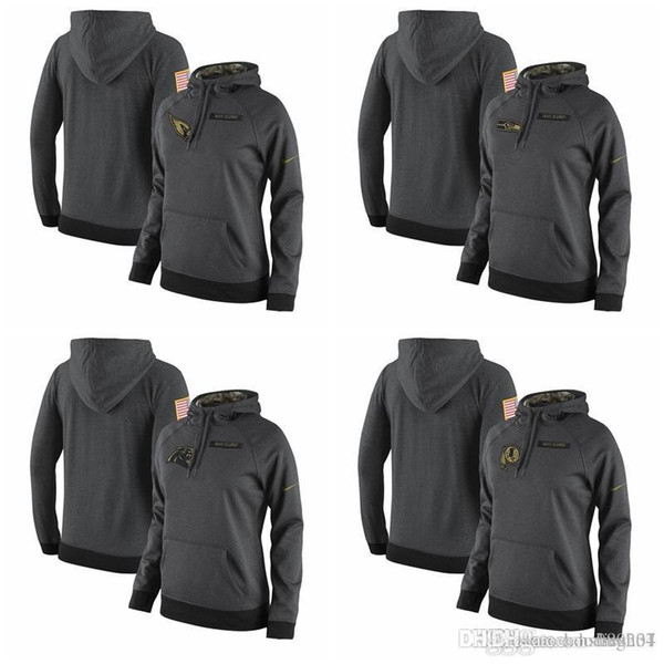 5d144c1b 2019 Women'S Seattle Seahawks Carolina Panthers Washington Redskins  Cardinals Salute To Service 2017 Therma FIT Performance Gray Hoodie From  Hxxy77, ...