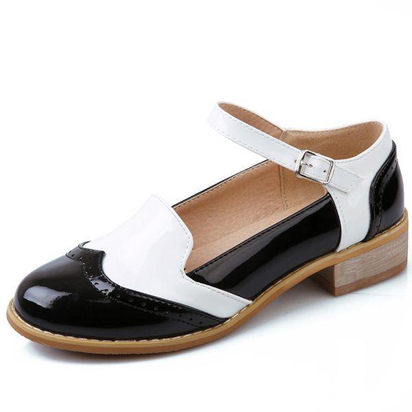 Yumuşak Hot2019 Alt Kısa Yazım Renk Toka Ile Düşük Ağız Tek Ayakkabı Kadın Ayakkabı Getirmek Okul Rüzgar Edebiyat 2008