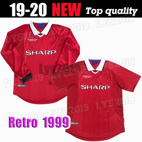 2019 Retro Classic The Final 1999 Soccer Jerseys Manchester Beckham Giggs Solskjaer Sheringham United Retro Football Shirt From Lys2019 27 68