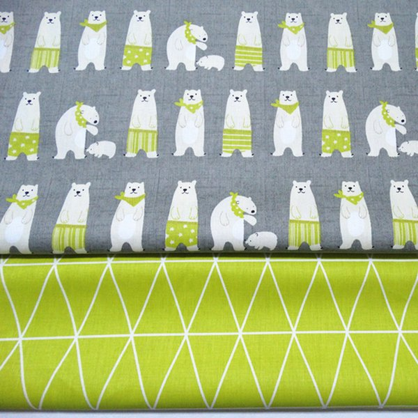 Printed Bear 100% Cotton baby quilting fabric for DIY sewing patchwork cloth sheet fabric 10yards/lot tomo1828