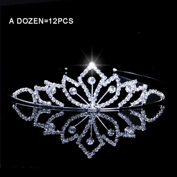 Wholesale Plant Tiaras And Crowns For Childs Wedding Bridal Rhinestone Girls School Party Prom Hair Accessories For Kids C19022201