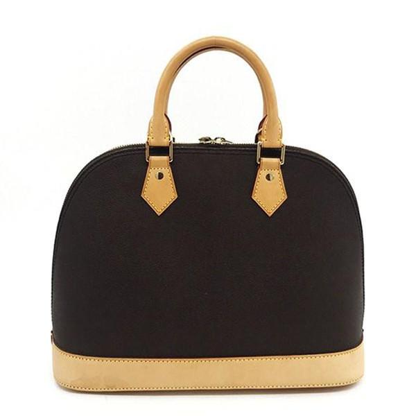 top popular Hot Free Shipping!ALMA BB Shell bag High quality leather shoulder bags Classic Damier Women Famous Brand designer Handbags check bag M53151 2019