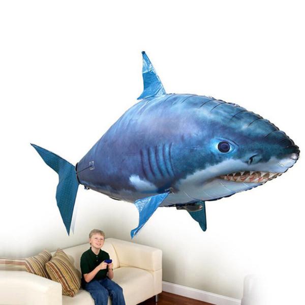 Uzaktan Kumanda Köpekbalığı Oyuncaklar Hava Yüzme Balık Kızılötesi RC Uçan Hava Balonları Nemo Palyaço Balık Çocuk Oyuncakları Hediyeler Parti Dekorasyon