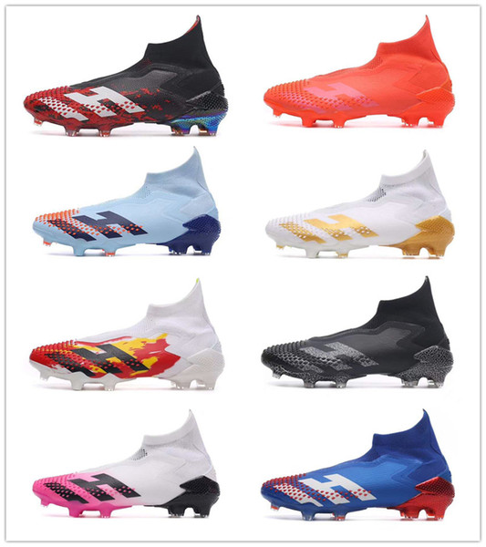 best selling 2020 Soccer Cleats New Mens Messi Predators Mutator 20 FG Soccer Shoes Core Black White Active Red Designer Football Boots Football Shoes