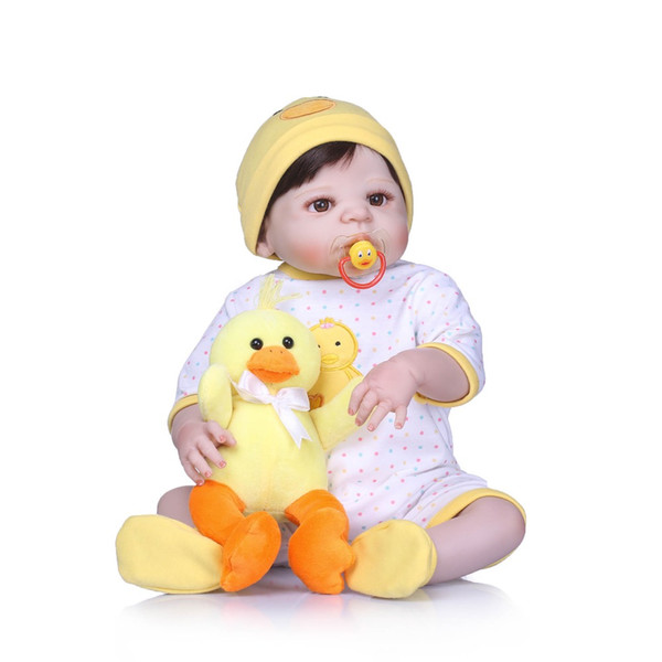 Bebe Reborn silicone vinyl reborn doll bonecas baby realistic magnetic pacifier bebe doll reborn toys for girl Gift