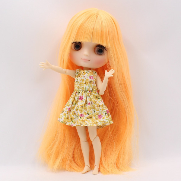 Factory Middie Blyth Doll 1/8 20cm Mango Hair With Bangs/Fringes Joint Body  Matte/Frosted Face Gift Toy BL0577 Visual Novels Free Bara Visual Novel