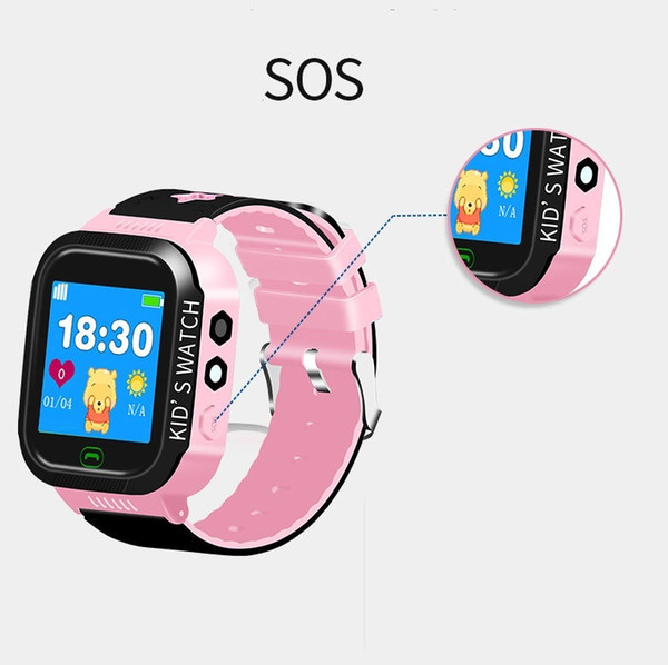 Smart Real-time positioning Tracker Location SOS Call Remote Monitor Camera Anti-lost Watch Wristwatch Bracelet for Kids Student