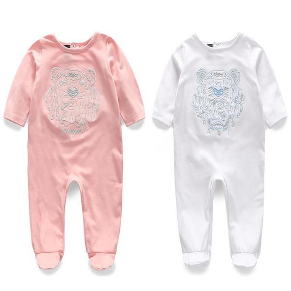 INS Baby Brand Clothes Baby KE tiger Romper New Pure Cotton Newborn Baby Girls Boy Spring Autumn Romper Kids Designer Infant Jumpsuits