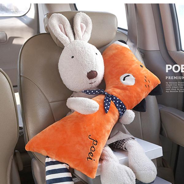 CNIKESIN Funda de cinturón de seguridad para automóvil Peluche de dibujos animados Niños Niños Almohada Almohadillas de hombro Posicionador de seguridad Acolchado Cintura Cojín Estilo