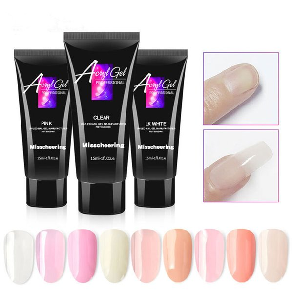 best selling 15ml 9 Colors Nail Builder Gel Polish Varnish For Nail Extension UV Gel LED Sculpting Hard Nail Gel Lacquer Manicure Tool