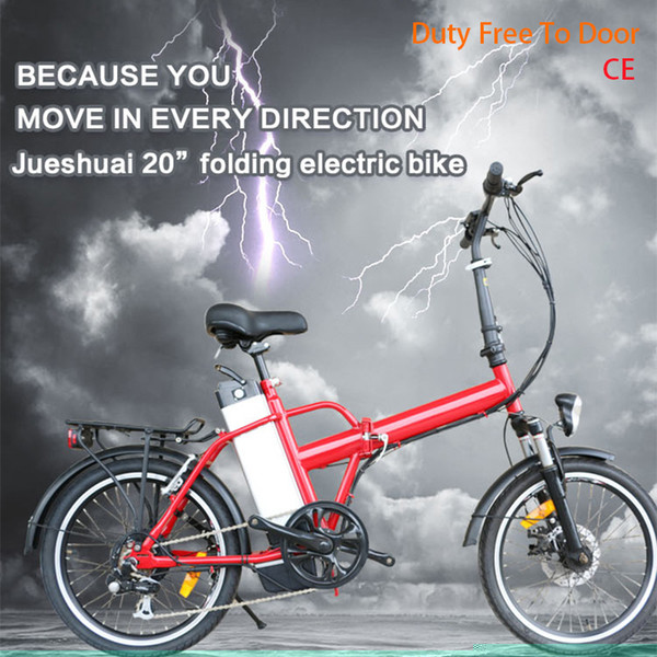 "best selling JS New Electric Bike 20"" 36V10AH Lithium battery E bike 36V250W Rear Hub Motor Folding Electric bicycle 6 Speed velo electrique"
