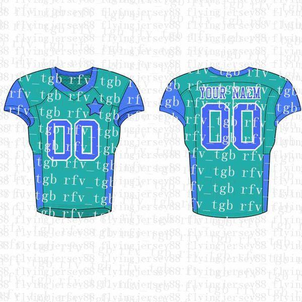 Top Mens Embroidery Logos Jersey Free Shipping Cheap wholesale Any name any number Custom Football Jerseysyy11