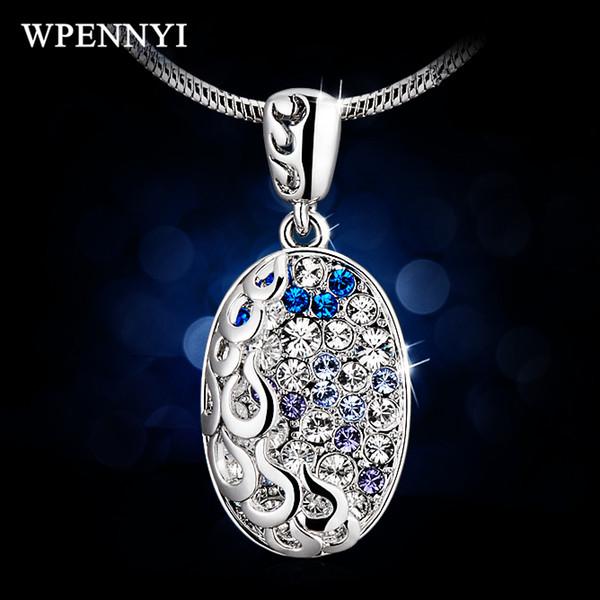 Regali di compleanno insoliti di alta qualità, color argento, cristallo austriaco, micro austriaco, pavé di goccia d'acqua, pendente per donna