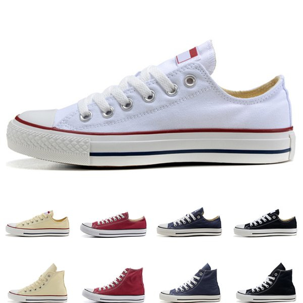 Designer men women casual canvas Shoes black white red beige pink navy blue high low high quality fashion athletic casual shoes size 36-44