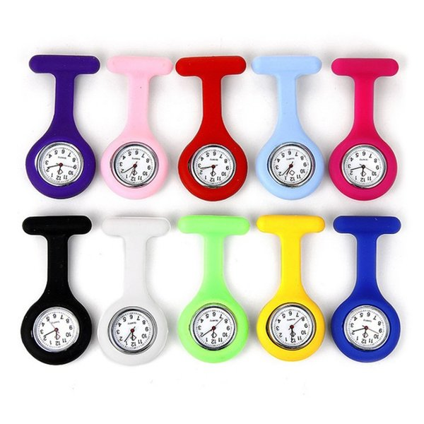 Enfermera Reloj Baterías de silicona Reloj de bolsillo Impresiones de leopardo de cebra Relojes de bolsillo Tabla de cofres Relojes de regalo para niños Reloj de la venta caliente