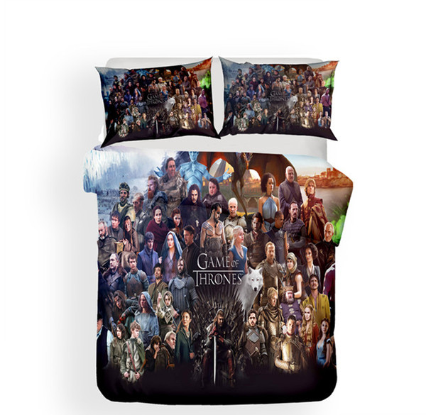 3D Game Of Thrones Design Bedding Set 2PC/3PC Duvet Cover Set Of Quilt Cover & Pillowcase Twin Full Queen King Size