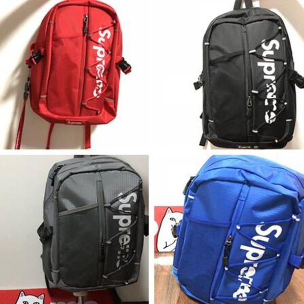 Supre Mektupları Omuz Çantası Lüks Sup 17p Sırt Çantası Genç Tasarımcı Schoolbag 3M Yansıtıcı Marka Sırt Çantası Unisex Oxford Big Sırt çantası C81203