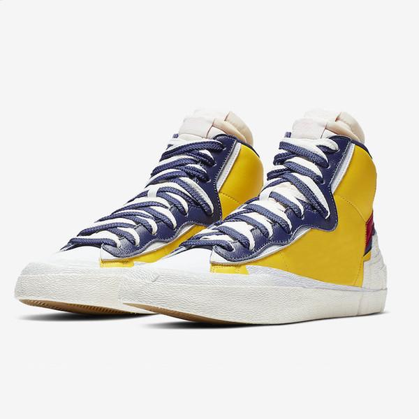 2020 Blazer mediana edad-Top zapatos del patín ocasionales de cuero de gamuza magníficas de la mujer calzado casual de los hombres de 36-45 eur