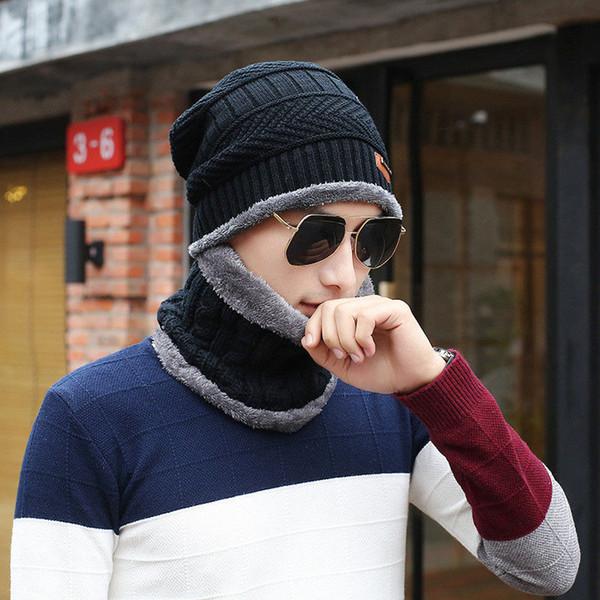 Diseñador de la marca Caps Crochet Gorros Diadema Moda Acrílico bufanda de Invierno Hombres Cálidos Head Wrap Ear Muffs Envío Gratis