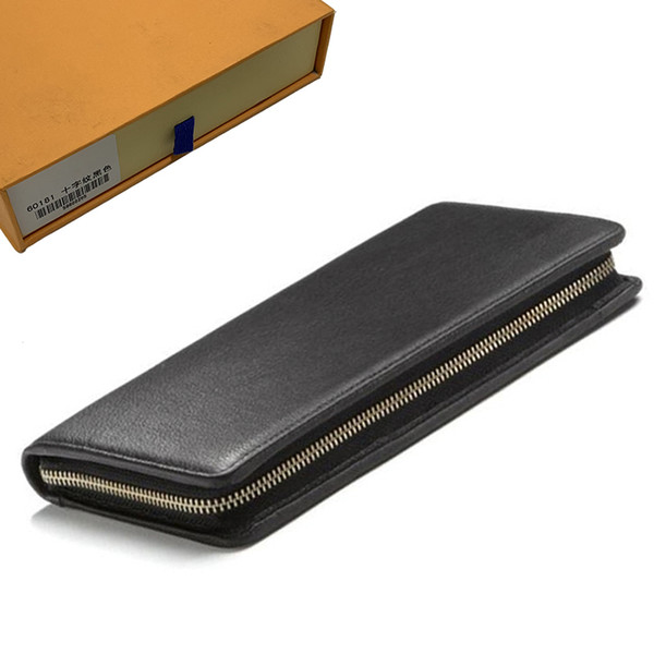 top popular Wallets Mens Wallet Purse Zippy Wallet Men Long Wallets Fold Card Holder Passport Holder Women Long Folded Purses Photo Pouch 69-12 2020