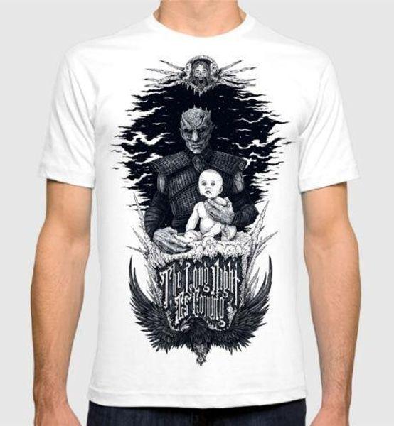 Night King Game of Thrones футболка Белый ходунки получил мужская женская тройник качество хлопок повседневная мужчины футболки мужчины Бесплатная доставка