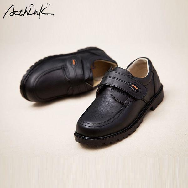 Acthink New Kids Scarpe da sposa in vera pelle per ragazzi Bambini di marca Scarpe da sposa nere Ragazzi Sneakers con zeppa formale, s011 Y19062001