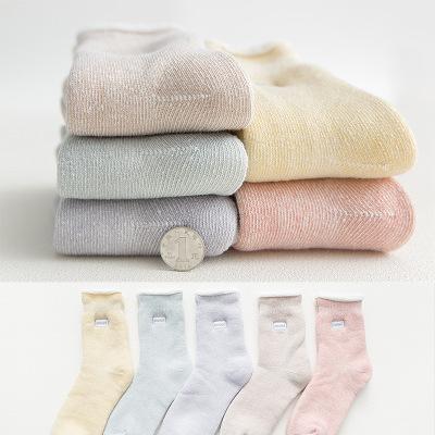 DHL Kadınlar Uzun Kış Sıcak Çorap Sevimli Yatak Uyku Çorap Çorap Çizgili Terlik Kaymaz 2019 Yeni Casual Ev Dekorasyonu Zemin Çorap M158Y