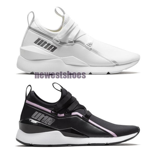 Muse 2 TZ Wns Black Lilac Sachet White Women Running Shoe Sneaker 369211-01 White silver Trainers Fashion Jogging Sports Shoes Size 36-40