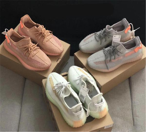 V2 Clay True Forma Designer Gid Sneakers Zebra Statica Beluga 2.0 Azul Tint Creme Branco Mens Womens Running Shoes Com Caixa 36-45