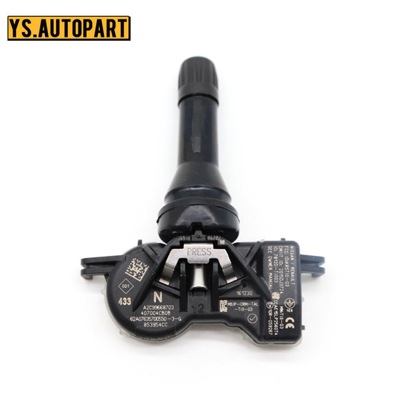 top popular 40700-4CB1A Tyre Pressure Sensor FOR Espace Kadjar Kangoo Megane Scenic 15-24 433MHz TPMS Tire Pressure Monitor Sensor 2021