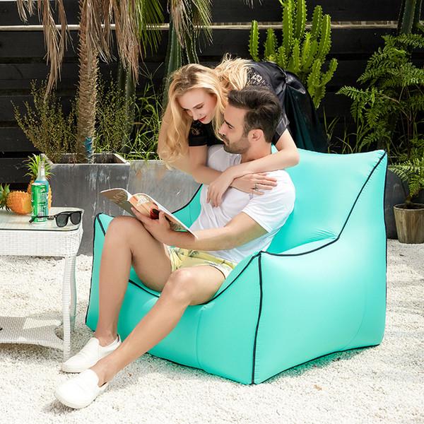 Aufblasbare Luftschlafsäcke Air Sofa Couch Tragbare Hangout Liegestuhl Faul Aufblasen Camping Strand Schlafsofa Outdoor Hängematte MMA1864