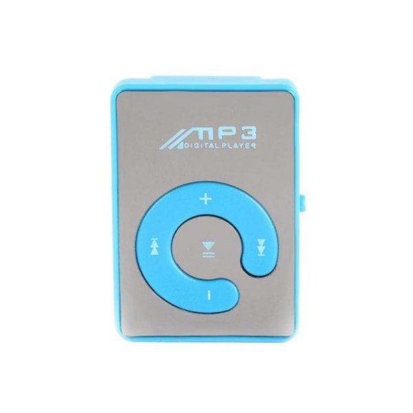 Portable Mini USB Clip MP3 Player Portable Digital Music Player Support USB TF Card With Earphone Charging Cable Crystal Box