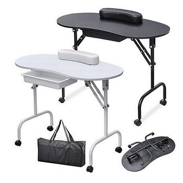 Foldable portable nail table manicure equipment for nail  alon with bag beauty  alon furniture