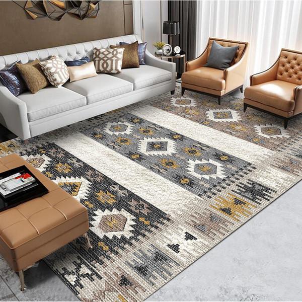 Großhandel Marokkanische Retro Teppich Wohnzimmer American Home  Schlafzimmer Teppich Große Sofa Couchtisch Teppich Bohemia Study Room Floor  Mat ...