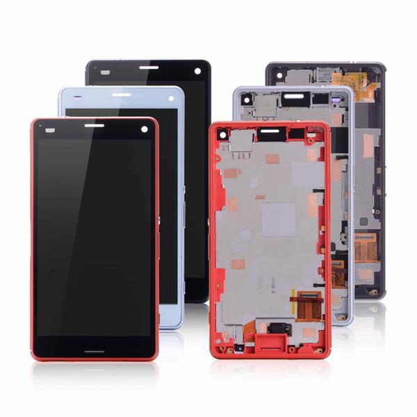 Touch Screen per Sony Xperia Z3 compatto D5803 D5833 Display LCD Digitizer Sensor Pannello di vetro Xperia Z3 mini Assembly con telaio