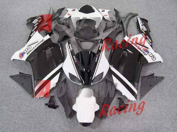 Novo ABS motocicleta moto Fairings Kits Fit Para kawasaki Ninja ZX6R 636 2007 2008 07 08 6R 600CC conjunto de carroçaria personalizado branco preto