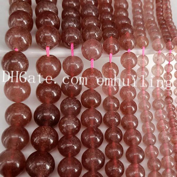 1 filamento 4mm Rosa Marrón Perla Perlas De Vidrio 216 granos