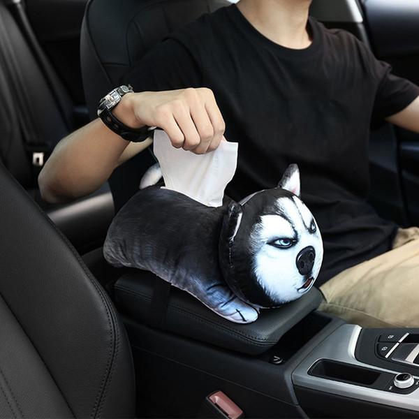 Cute Pet мультфильм автомобилей подлокотника Box Универсальный автомобиль Back Seat Tissue Box Аксессуары для интерьера