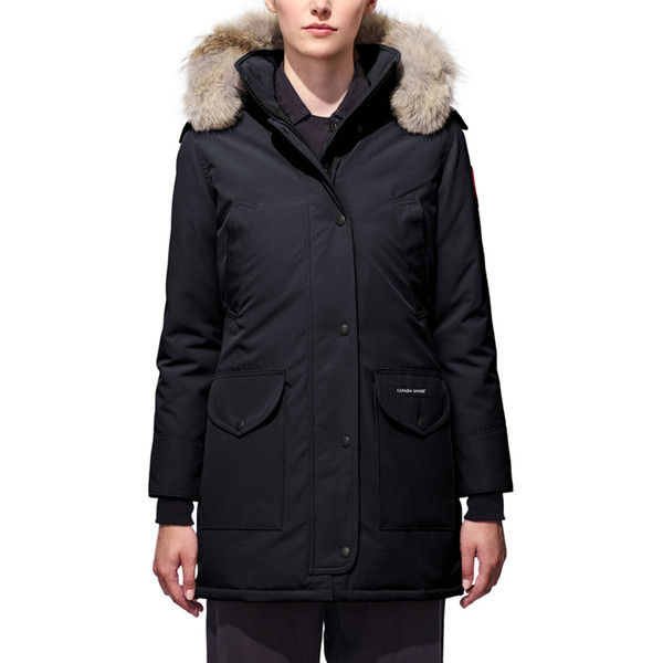 Buy Canadian autumn winter Warm down jacket women designer outdoor coats hooded thick windproof trillium parkas jackets for cheap sale