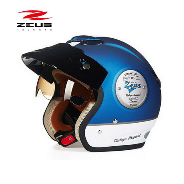 China Taiwan ZEUS 3/4 Half Face motorcycle helmet motorcoss 318C motorbike electric bicycle scooter Safety helmets M L XL XXL
