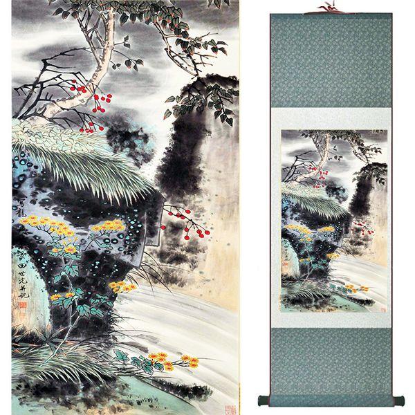 Pintura De Aves Y Flores Pintura De Seda Pintura De Pájaros Tradicional Y Pintura De Flores Aves Chinas19040405
