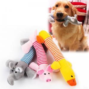 Peluches masticar cachorro juguetes para perros masticar Squeaker Squeaky felpa sonido cerdo elefante pato mascota gato perro juguetes WWA121