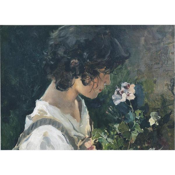 Joaquin Sorolla y Bastida pinturas en venta Niña italiana con flores lienzo Paisajes modernos arte pintado a mano