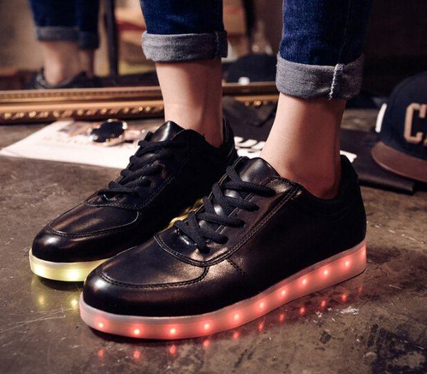 Men's Shoes Shoes 2019 Spring Adults Led Shoes Men Low Top Glowing Casual Shoes Women Lace Up Sneakers Usb Charging Breathable Lovers Sneakers A Complete Range Of Specifications
