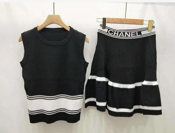 Fashionable new summer dress wholesale women's casual short-sleeve dress sleeveless shirt with small round collar + skirt skirt skirt two-pi