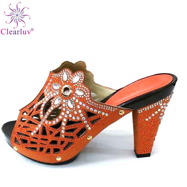 new arrival designer shoes women luxury 2018 summer high heeled shoes for women african decorated with rhineston, Black