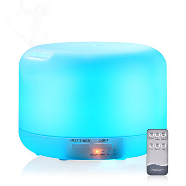 Mini Ultrasonic Humidifier Aromatherapy Essential Oil Diffuser 7 Color Changable Light Cool Mist Maker with remote control 300ml 500ml